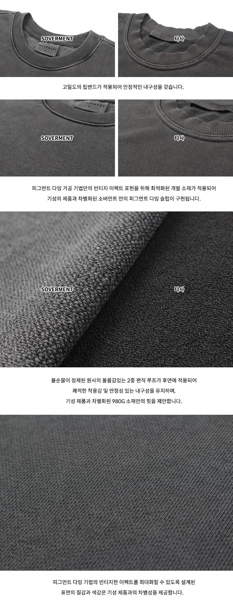 소버먼트(SOVERMENT) 980g pigment mtm-charcoal-